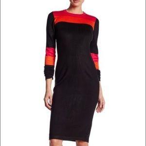 NWT Long Sleeve Dress Colorblock Sweater Dress